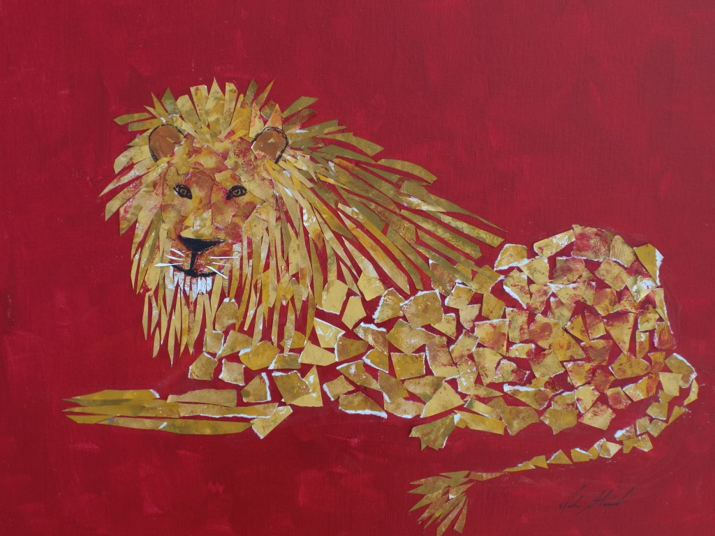 lion-decoupage