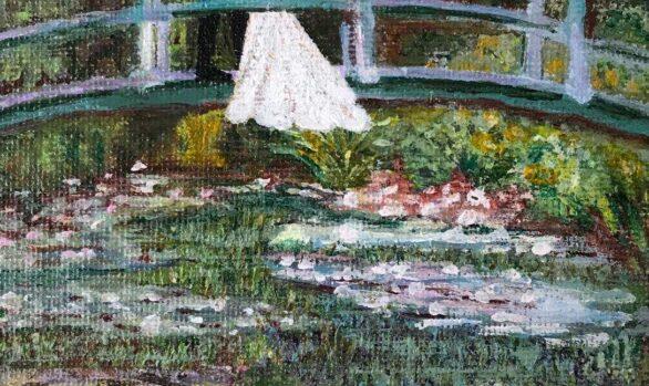 Rendition of Claude Monet's The Japanese Footbridge by Susan