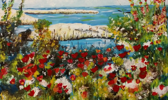 Rendition of Childe Hassam's Ocean View by Anita