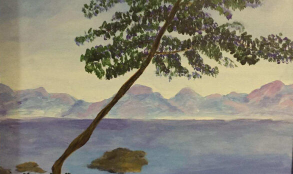 Rendition of Monet's Antibes by Linda