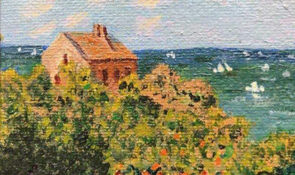 Rendition of Monet's Fisherman's Cottage on the Cliffs at Varengeville by Susan