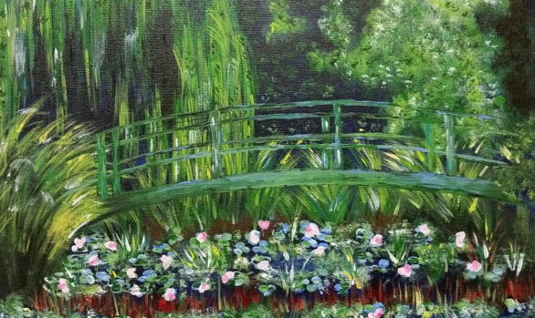 Rendition of Monet's The Japanese Footbridge by Anita