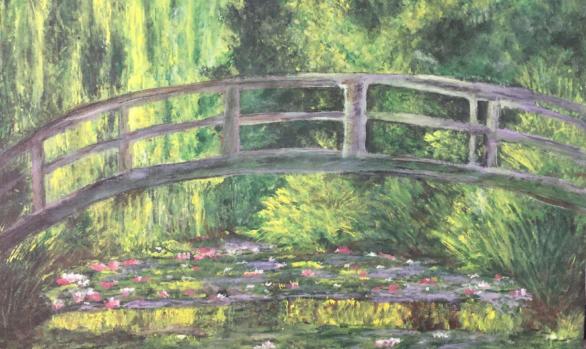 Rendition of Monet's The Japanese Footbridge by Lisa