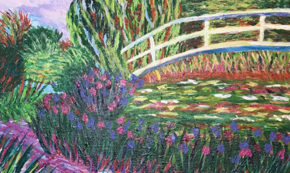 Rendition of Monet's The Japanese Footbridge by Rikki